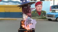 The polarisation of Venezuela was visible on Easter Sunday as Caracas residents burned carton made puppets of US President Obama and Venezuela...