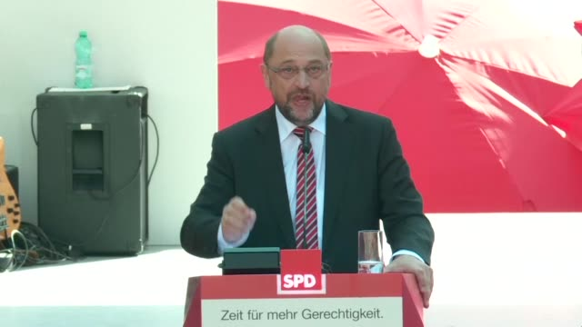 The politics of the US will never be the politics of Germany Martin Schulz Social Democrat leader and main rival to Angela Merkel tells a crowd on...