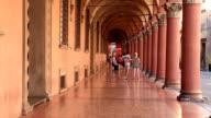 The porticoes of Piazza Santo Stefano, Bologna.