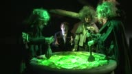 'The Power of Poison' exhibition at Old Truman Brewery Model of witch Mark Siddall interview SOT Spoon in couldron **Siddall interview partly...