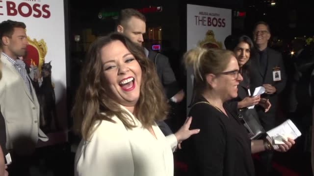 The premiere of The Boss co written by and featuring Melissa McCarthy takes place in Los Angeles