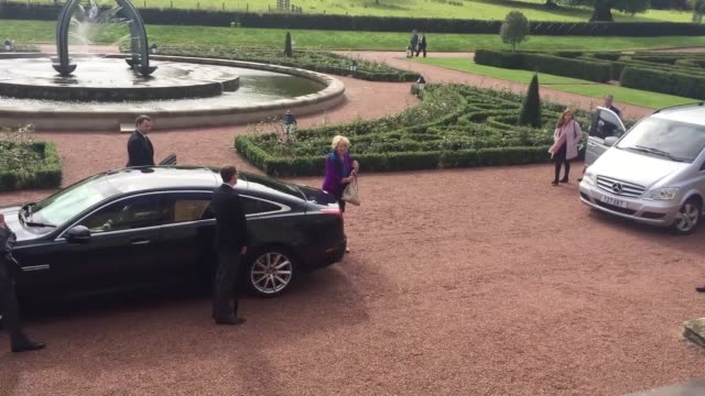The President of Ireland Michael D Higgins and the First Lady Sabina Higgins meet Prince Charles at Dumfries House in East Ayrshire to celebrate 10...