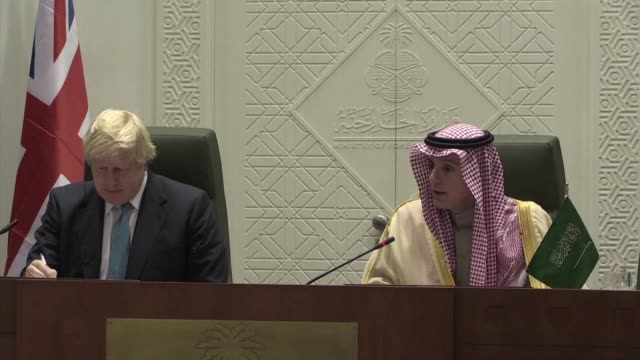 The press took out of context comments by Britain's foreign secretary about proxy wars waged by longtime ally Saudi Arabia the Saudi foreign minister...
