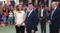 The Prime Minister of France Manuel Valls visits a French Lycee in Accra