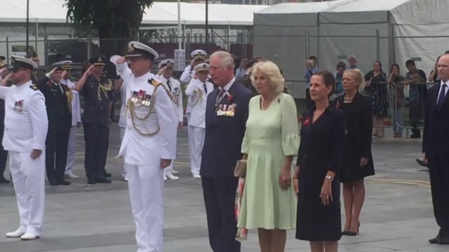 The Prince of Wales inspects a Guard of Honour during an official welcome at the Presidential Palace in Singapore Prince Charles embarked on a...