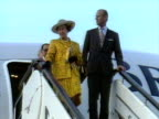 The Queen and Prince Philip arrive in Beijing for their historic visit to China October 1986
