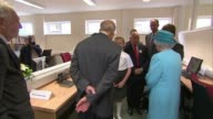 The Queen and Prince Philip visit Barking and Dagenham Queen and Duke of Edinburgh applauding performance / Queen and Prince Philip meeting...