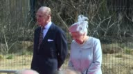 HM The Queen and The Duke of Edinburgh at ZSL London Zoo on March 17 2016 in London England