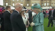 The Queen and the Duke of Edinburgh open their doors for Buckingham Palace garden party Shows exterior shots of Camilla The Duchess of Cornwall...