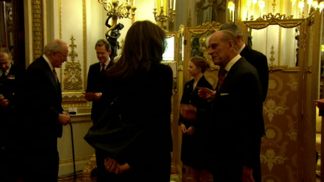 The Queen has hosted a reception at Buckingham Palace to commemorate the upcoming 800th anniversary of signing of Magna Carta Interior shots HM Queen...