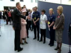 The Queen meets staff at a hospital in Manchester