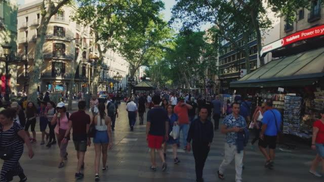 De ramblas in Barcelona