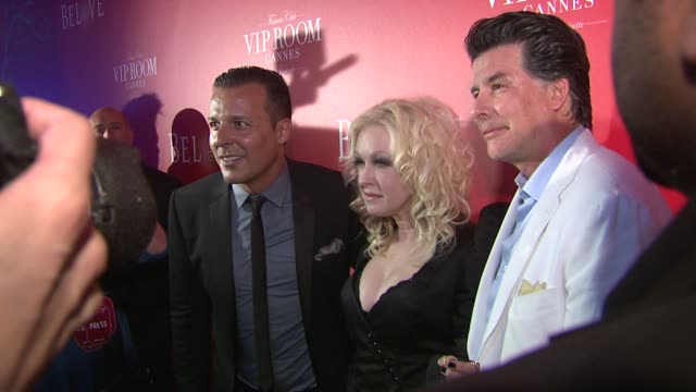 The RED Party In Cannes Featuring Cyndi Lauper on May 18 2012 in Cannes France
