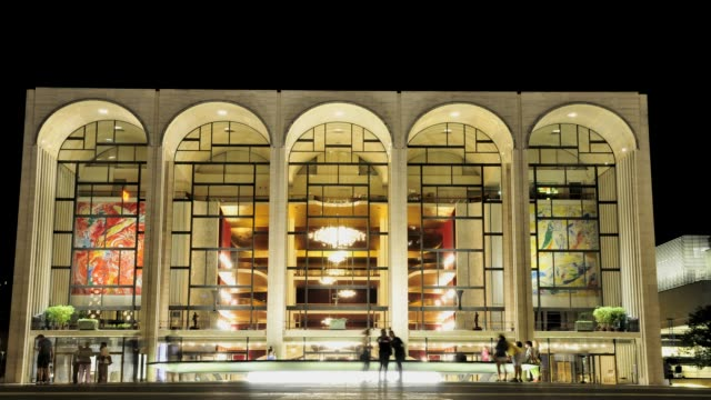 The renovated Lincoln Center Performing Arts Center Revson Fountain Josie Robertson Plaza Broadway Upper West Side Manhattan New York City USA TIME...