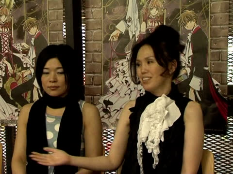 The renowned all female Japanese manga group Clamp were guests of honour at the Japan Expo exhibition in Paris over the weekend Villepinte...