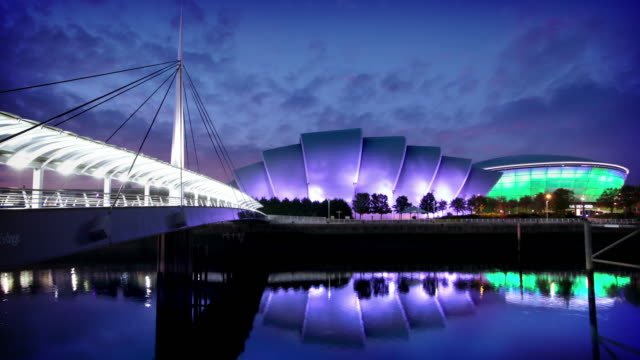 The River Clyde and SECC, Glasgow, Scotland