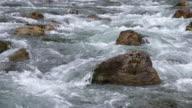 The river Loisach near Ehrwald. Ehrwald Austria.
