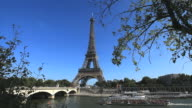 The River Seine looking across to the Eiffel Tower in Paris