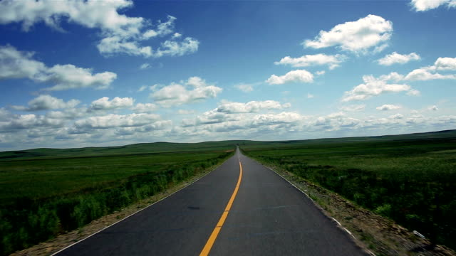 The road of grassland