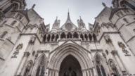 The Royal Courts of Justice in London, England.