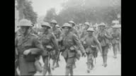 The Royal Sussex Pioneers Durhams and North Hants units move up during the Battle of Arras