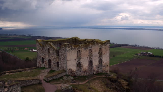 AERIAL: The ruins of Brahehus catlse