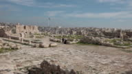 The ruins of the Amman Citadel - a national historic site at the centre of downtown Amman, Jordan