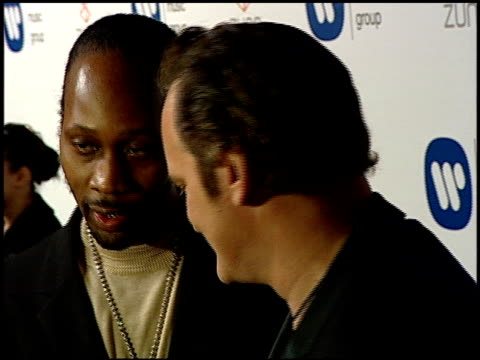The RZA and Quentin Tarantino at the Warner Music Group 2007 Grammy Awards AfterParty at the Cathedral in Los Angeles California on February 11 2007