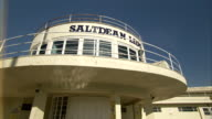 The Saltdean Lido's sundeck juts out over the pool in Brighton. Available in HD.