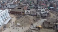 The scale of devastation caused by the 75 magnitude earthquake that hit Nepal on Saturday can be seen in this aerial footage as hundreds of homes and...