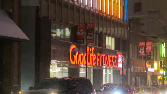 The scene happens on Yonge Street which is one of the main urban streets in the city Goodlife Fitness Centres Inc is the largest health club company...