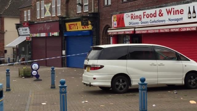 The scene in Witton Lodge Road Birmingham where a BMW car was badly damaged during a disturbance involving a group of people outside a Caribbean...