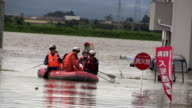 The Shibui River in the Miyagi city of Osaki burst its banks around 5 am Friday over a span of more than 10 meters flooding nearby residential areas...