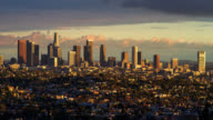 T/L LS The skyline of Los Angeles and surrounding area