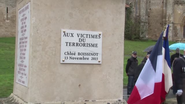 The small French village of Chateau Larcher Saturday marked Remembrance Day by adding a plaque to its war memorial in honour of a locally born...