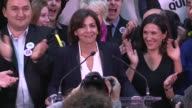 The Socialist candidate for mayor of Paris Anne Hidalgo who is trailing her conservative opponent Nathalie Kosciusko Morizet after the first round of...