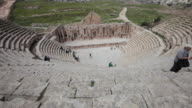 The South Theatre in the ancient Gerasa - the Greco-Roman ruins in the Jordanian city of Jerash