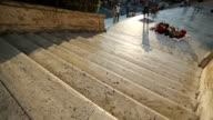 The spanish steps at Trinità dei Monti in Rome