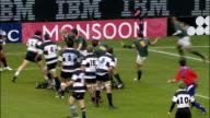The Springboks tackle O'Connor to regain possession after a kick Barbarians v Springboks 4th December 2010 Available in HD