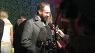 The stars of London's West End attend the Evening Standard Theatre Awards at the Old Vic Shows exterior shots Ralph Fiennes speaking to reporters on...