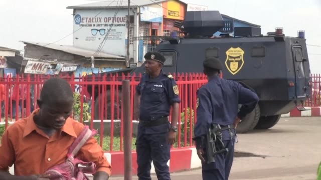 The streets of Kinshasa a quieter than usual with many schools and shops closed and a heavy police presence after the opposition announced plans for...