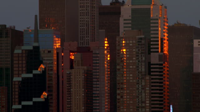 The Sun Reflecting Off Buildings in the Manhattan Skyline