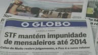 The Supreme Court in Brazil ruled that 12 defendants linked to the ruling Workers Party could appeal their sentences in the socalled Mensalao trial...