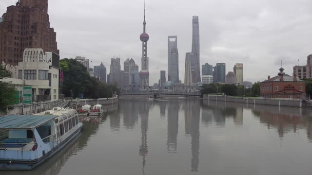 The Suzhou River and Pudong in Shanghai