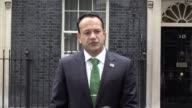 The Taoiseach leaves Downing Street after his bilateral meeting with Prime Minister Theresa May and answers questions on Brexit the Irish border and...
