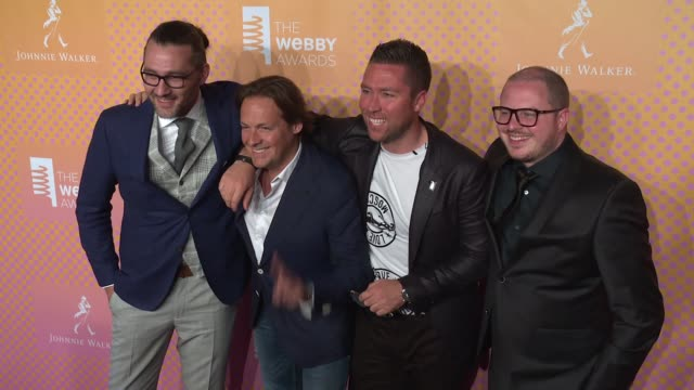 The team from Born05 at The 21st Annual Webby Awards Arrivals at Cipriani Wall Street on May 15 2017 in New York City