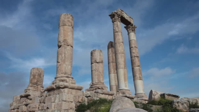 The Temple of Hercules in Amman Citadel - a national historic site at the centre of downtown Amman, Jordan