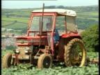 Organic Foods food on display Welsh farm organic food at Tesco voxpops