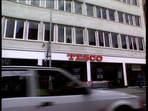 Tesco Chairman 500% payrise Goodge St Tesco voxpops intvw Garfield Davies shopworkers union