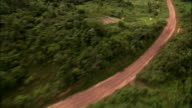The Trans-Amazon Highway cuts through the soya fields around it. Available in HD.